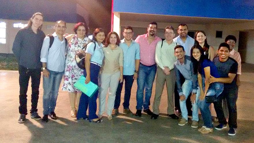 Professores, mestrandos e palestrantes no I Seminário de Pós-Graduação em Geografia da Universidade Estadual do Maranhão