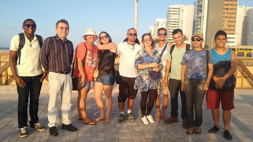 Atividade de campo ministrada pelo  Dr. Eustógio Wanderley Correia Dantas, professor titular da Universidade Federal do Ceará